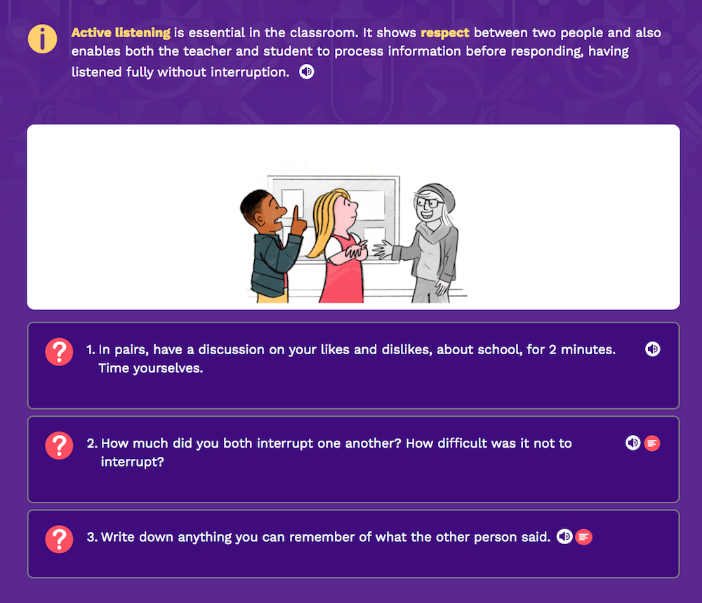 Persona Life Skills - Getting Along With Teachers, Explore 1 screen