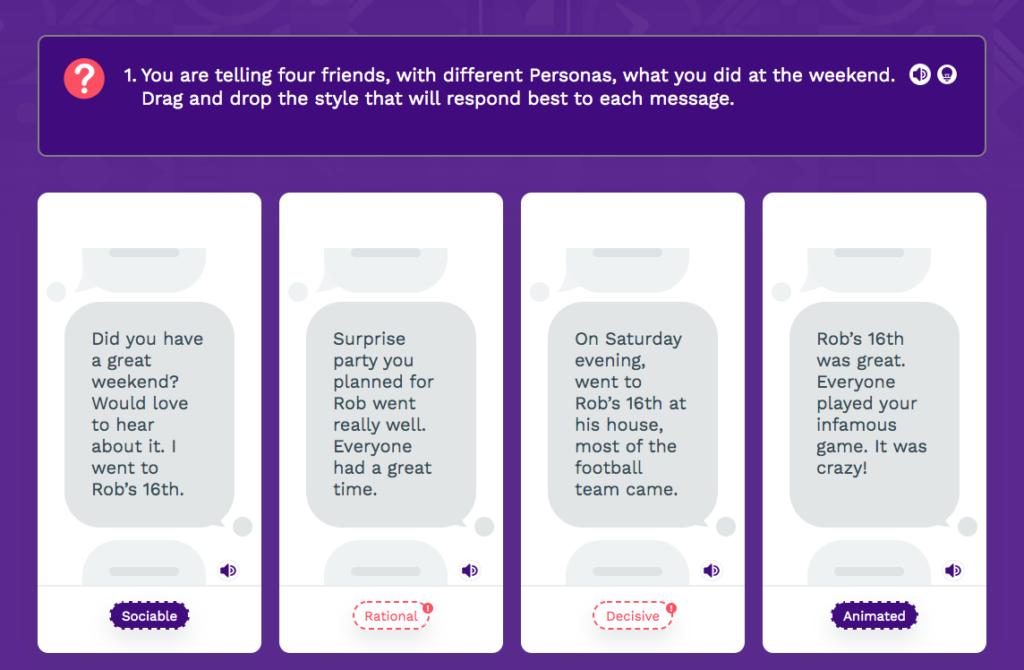Persona Life Skills - Social Media Chat, Explore 1 screen
