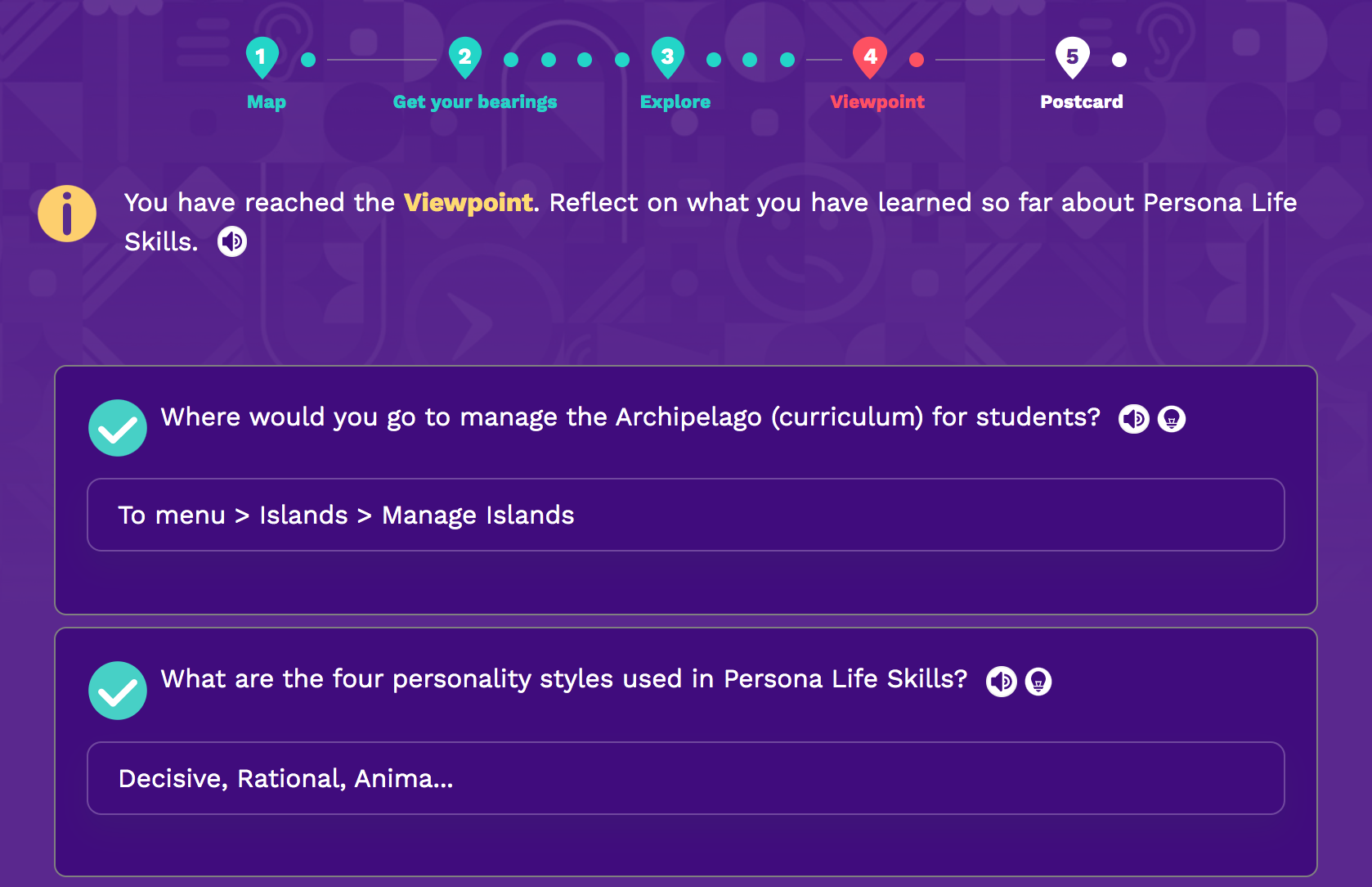 Persona Life Skills - Teacher Onboarding, Viewpoint